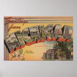 Le Michigan (capitale de l'État/fleur) Posters