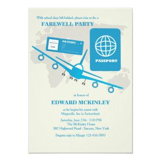 Le monde voyage invitation de partie d'adieu carton d'invitation  12,7 cm x 17,78 cm