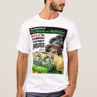 Le monstre d'empreinte de pas de carbone - partie t-shirt