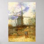 Le Moulin Galette par Vincent van Gogh, moulin à Poster