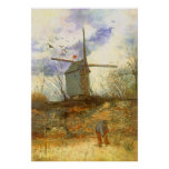 Le Moulin Galette par Vincent van Gogh, moulins à Poster