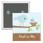 Le nid d'oiseau de bébé (bleu) badge