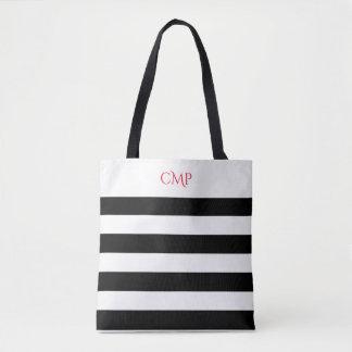 Le noir élégant barre tous plus de - imprimez le tote bag