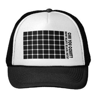 le noir frais pointille le chapeau casquettes