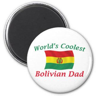 Le papa bolivien le plus frais magnet rond 8 cm