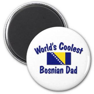 Le papa bosnien le plus frais magnet rond 8 cm