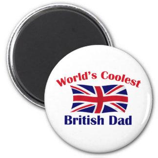 Le papa britannique le plus frais magnet rond 8 cm