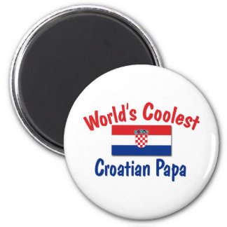 Le papa croate le plus frais magnet rond 8 cm