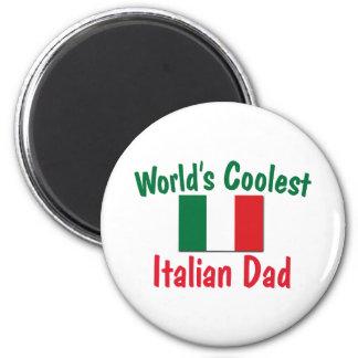 Le papa italien le plus frais du monde magnet rond 8 cm