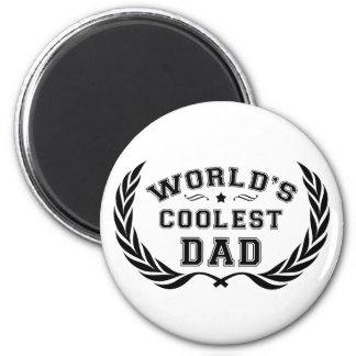 Le papa le plus frais du monde magnet rond 8 cm