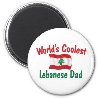 Le papa libanais le plus frais magnet rond 8 cm
