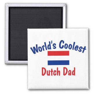 Le papa néerlandais le plus frais magnet carré