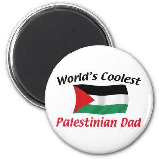 Le papa palestinien le plus frais magnet rond 8 cm