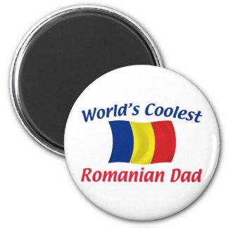 Le papa roumain le plus frais magnet rond 8 cm