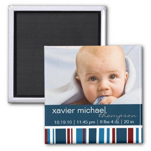 Le patriote barre l'aimant de photo de bébé magnet carré