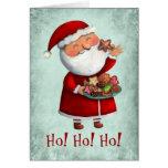 Le père noël et biscuits cartes de vœux