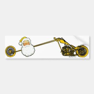 Le père noël jaune autocollant de voiture