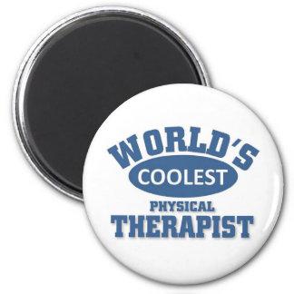 Le physiothérapeute le plus frais magnet rond 8 cm