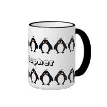 Le pingouin ajoutent juste le nom tasse à café