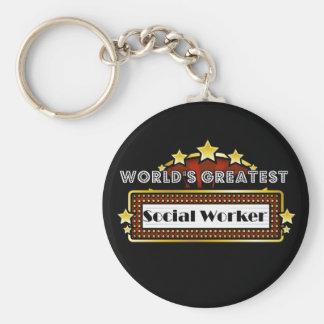 Le plus grand assistant social du monde porte-clé rond