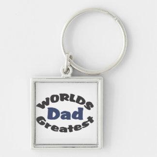 Le plus grand porte - clé du papa du monde porte-clés