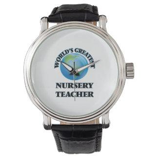 Le plus grand professeur de la crèche du monde montres bracelet