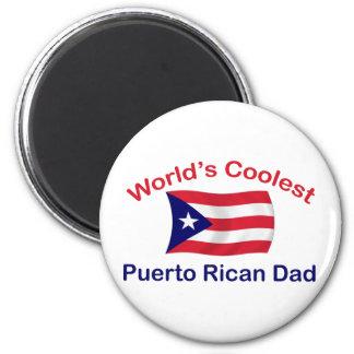 Le Portoricain le plus frais Dadl Magnet Rond 8 Cm