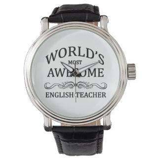 Le professeur d'Anglais le plus impressionnant du Montres Bracelet