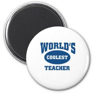 Le professeur le plus frais magnet rond 8 cm
