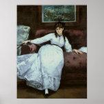 Le repos, portrait de Berthe Morisot Poster