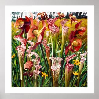 Le ressort fleurit l art floral d aquarelle posters