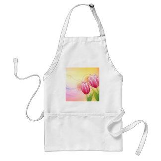 Le résumé fleurit la tulipe chaude de gemme de cou tablier