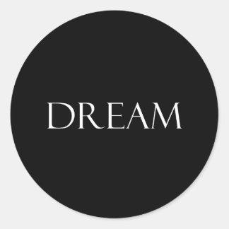 Le rêve cite la citation inspirée adhésifs ronds