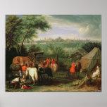 Le siège de Tournai par Louis XIV Posters