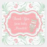 Le Sip floral vert en bon état rose N voient la Stickers Carrés