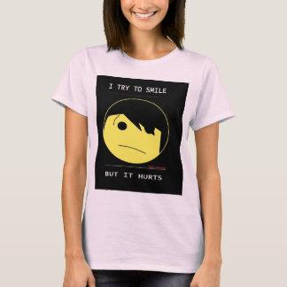 """Le SMILEY d'EMO (Emotioncons ! !) """"blesse pour T-shirt"""