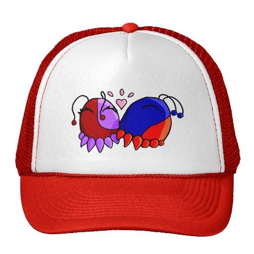 le squee se bécotent casquettes