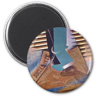 Le store par Gris Juan (la meilleure qualité) Magnet Rond 8 Cm