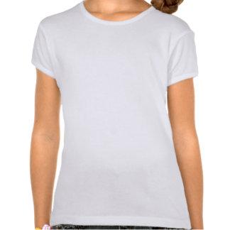 Le T-shirt d'Emo de la fille bleue de coeur