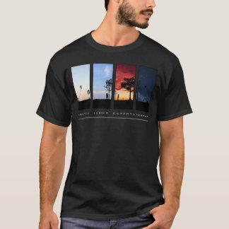 Le T-shirt noir des hommes de divertissement de