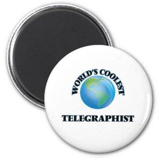 Le télégraphiste le plus frais du monde magnets pour réfrigérateur