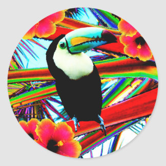 Le toucan sticker rond