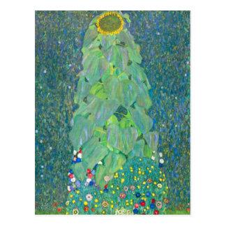 Le tournesol par Klimt, cru fleurit l'art Nouveau Cartes Postales