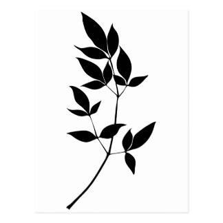 Le vecteur noir et blanc laisse la silhouette de carte postale