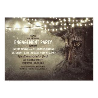 le vieux scintillement de chêne allume la partie carton d'invitation  12,7 cm x 17,78 cm