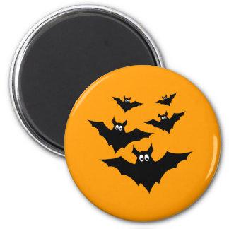 Le vol noir mignon frais manie la batte Halloween Magnet Rond 8 Cm