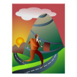 Le voyage montagneux poster