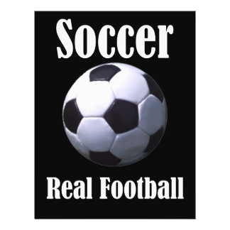 Le vrai football du football prospectus 21,6 cm x 24,94 cm
