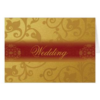 Le Wedding Invitation Card Folded Indian se donne Carte De Correspondance