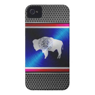 Le Wyoming a balayé le drapeau en métal Coque iPhone 4 Case-Mate
